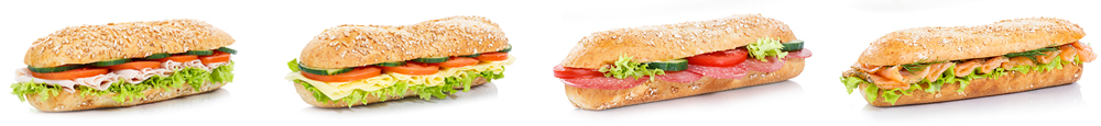 different sub sandwiches