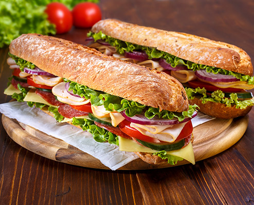 Foot Long Submarine Sandwiches